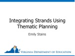 Integrating Strands Using Thematic Planning