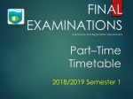 FINAL EXAMINATIONS Admissions and Registration Department