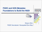 FGDC and GOS Metadata: Foundations to Build the NSDI