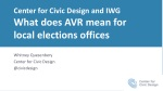 Center for Civic Design and IWG What does AVR mean for local elections offices