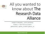 All you wanted to know about The Research Data Alliance