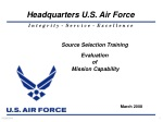 Source Selection Training Evaluation of Mission Capability