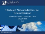 Chickasaw Nation Industries, Inc. Defense Division