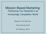 Mission-Based Marketing: Positioning Your Nonprofit in an Increasingly Competitive World