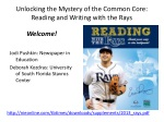 Unlocking the Mystery of the Common Core: Reading and Writing with the Rays