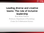 Leading diverse and creative teams: The role of inclusive leadership