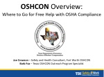 OSHCON Overview: