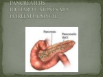 PANCREATITIS RICHARD L. MONES MD HARLEM HOSPITAL