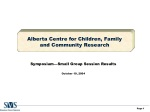Alberta Centre for Children, Family and Community Research