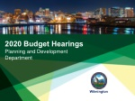 2020 Budget Hearings Planning and Development Department