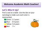 Welcome Academic Math Coaches!