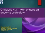 Oncolytic HSV-1 with enhanced oncolysis and safety