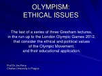 OLYMPISM: ETHICAL ISSUES