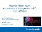 Traumatic brain injury: Assessment & Management in ED Training Module