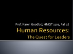 Human Resources: The Quest for Leaders