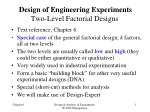 Design of Engineering Experiments Two-Level Factorial Designs