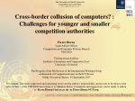Cross-border collusion of computers? : Challenges for younger and smaller competition authorities