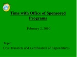 Time with Office of Sponsored Programs