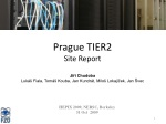 Prague TIER2 Site Report
