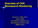 Overview of CVM Bioresearch Monitoring