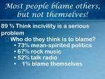Most people blame others, but not themselves!
