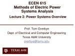 ECEN 615 Methods of Electric Power Systems Analysis
