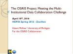 The OSiRIS Project: Meeting the Multi-Institutional Data Collaboration Challenge