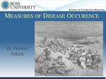 Measures of Disease Occurence