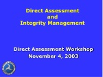 Direct Assessment and Integrity Management