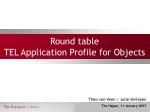 Round table TEL Application Profile for Objects