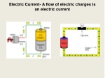 Electric Current- A flow of electric charges is an electric current
