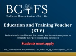 Education and Training Voucher (ETV)