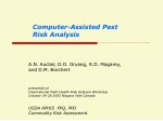 Computer-Assisted Pest Risk Analysis