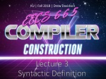 Lecture 3 Syntactic Definition