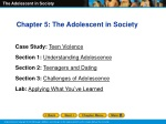 Chapter 5: The Adolescent in Society Case Study: Teen Violence