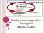 Nursing Process in psychiatric Nursing care BY: Nada AL-Attar