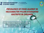 PREVALENCE OF FOOD ALLERGY IN HELICOBACTER PYLORI-ASSOCIATED GASTRITIS IN CHILDREN