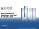 Endpoint Security Current portfolio and looking forward