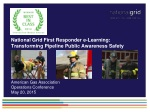 National Grid First Responder e-Learning: Transforming Pipeline Public Awareness Safety