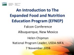 An Introduction to The Expanded Food and Nutrition Education Program (EFNEP)