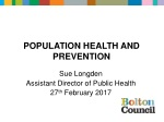 Population health and prevention