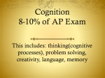 Cognition 8-10% of AP Exam