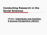 Conducting Research in the Social Sciences
