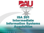 ISA 201 Intermediate Information Systems Acquisition