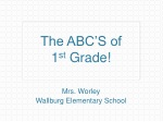 The ABC'S of 1 st Grade!