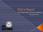 CEO's Report