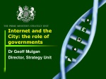 Internet and the City: the role of governments