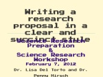 Writing a research proposal in a clear and succinct style