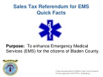 Sales Tax Referendum for EMS Quick Facts