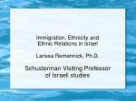 Immigration, Ethnicity and Ethnic Relations in Israel Larissa Remennick, Ph.D.